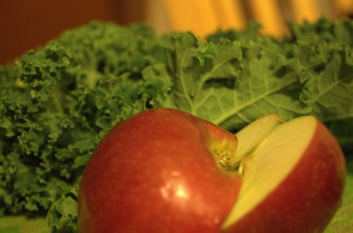 apple and kale